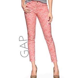 GAP 1969 Pink Print Skinny Legging Jeans Sz 25